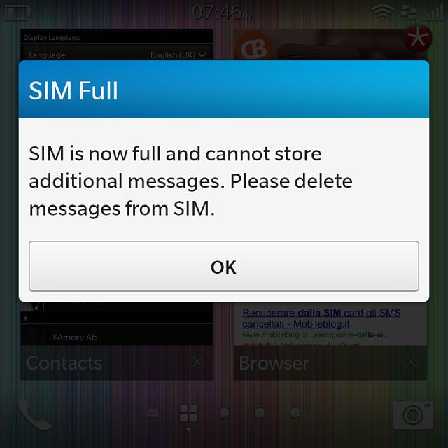 how to delete texts on blackberry q10