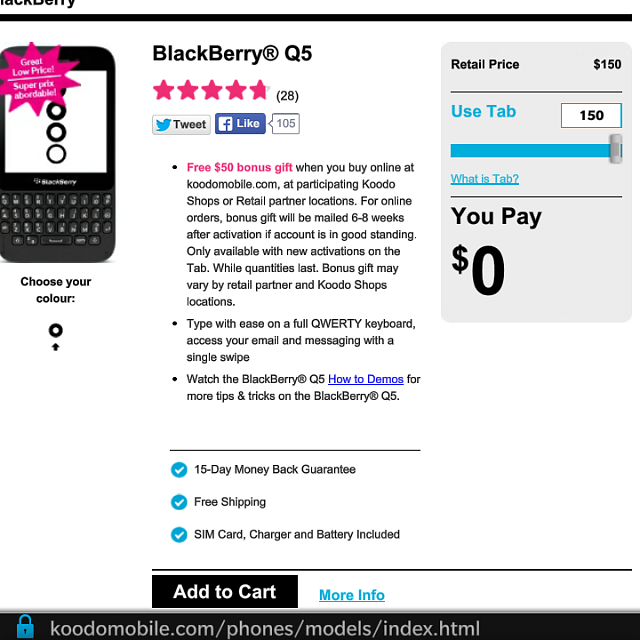 Koodo offering Blackberry Q5 for 150 outright - Page 6 - BlackBerry