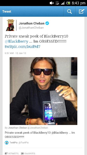 Jonathan Cheban with a BlackBerry 10-uploadfromtaptalk1358075916674.jpg