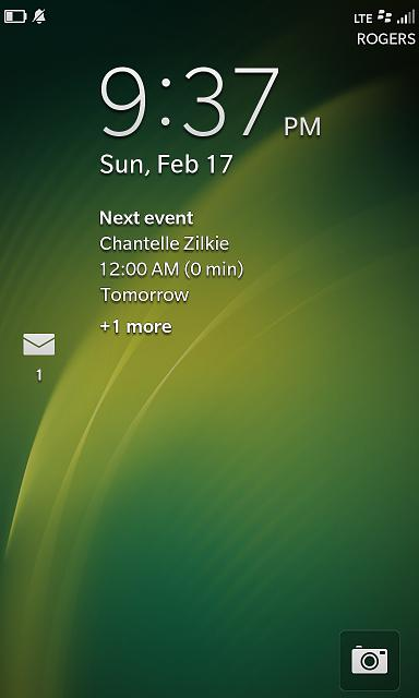 Unknown Message Icon on Lock Screen - BlackBerry Forums at