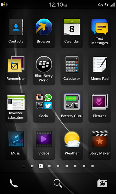 Bb Purple Wallpaper Full Resolution From Z10 Extract Or The Black Version Of It Blackberry