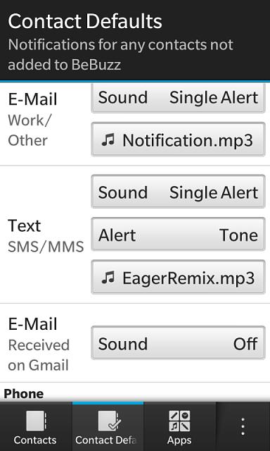 Custom alert tones per email account - BlackBerry Forums at