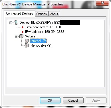How do I mount the volume to PC? - BlackBerry Forums at