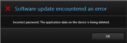 blackberry z10 software update encountered an error