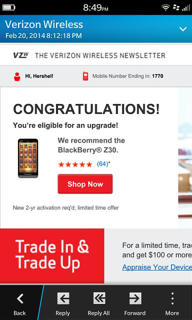 Verizon Phone Upgrade Email Blackberry Forums At Crackberry Com