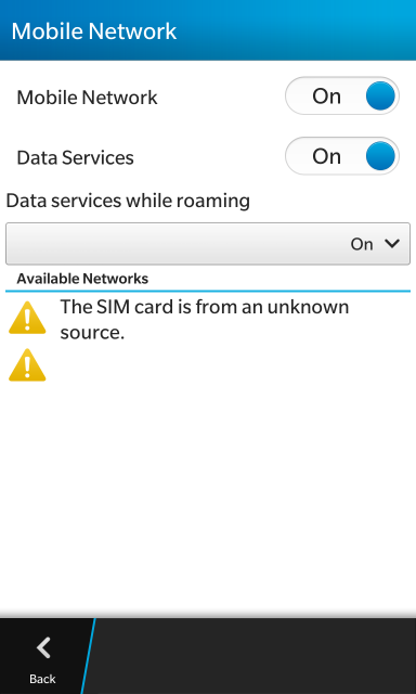 Help Z10 STL100-2 The Sim Card Is From Unknown Source