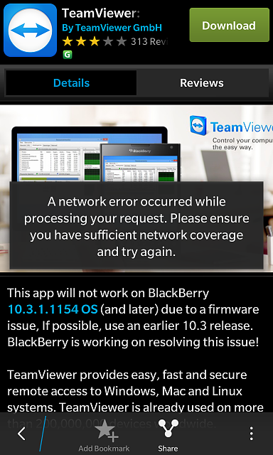 Teamviewer not working in 13 3 1 1565 - BlackBerry Forums at