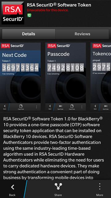 RSA SecurID app for Z30 vs  Z10 - BlackBerry Forums at