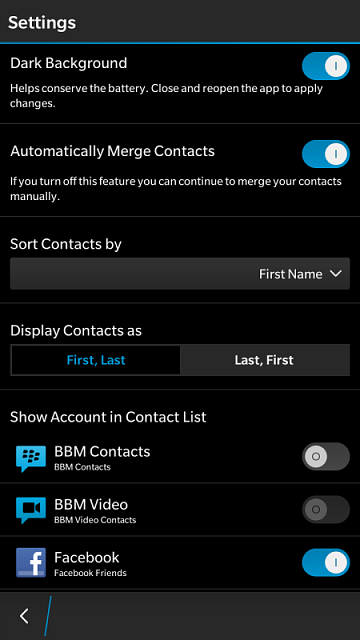 How do I separate Linkedin Contacts from Personal Contacts with 10 3