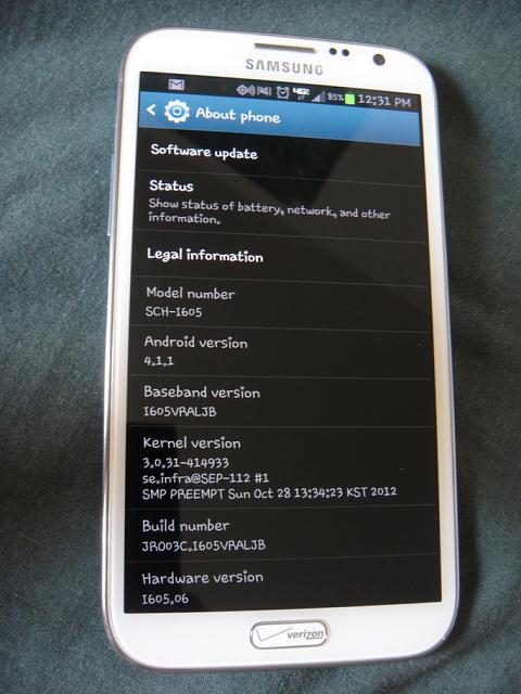 Samsung Galaxy Note 2 White Verizon Samsung Galaxy Note 2