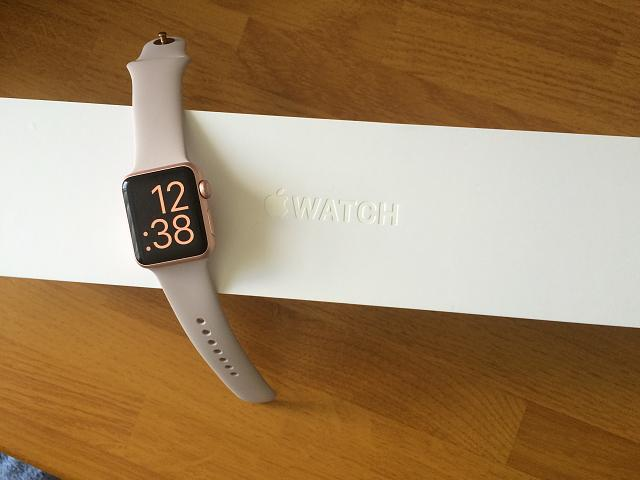new and mint apple watches   42mm black sport