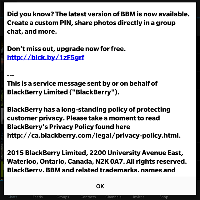 How come BBM doesn't understand I have the latest version?...-img_20150423_225524.png