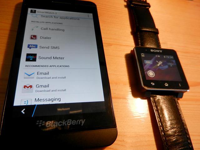 sony smartwatch 2 arbeitet wunderbar mit blackberry z10. Black Bedroom Furniture Sets. Home Design Ideas