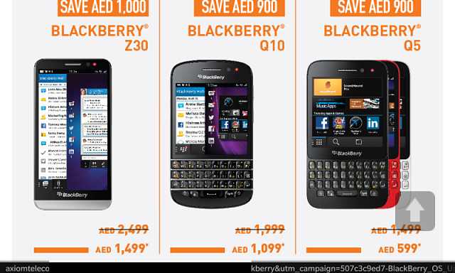 BlackBerry 10 gets a huge price drop in the Middle East for Axiom