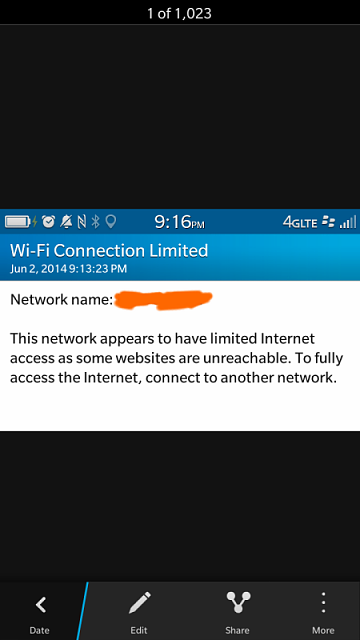 Pay Attention: Limited Wifi Connectivity Is Not a BlackBerry