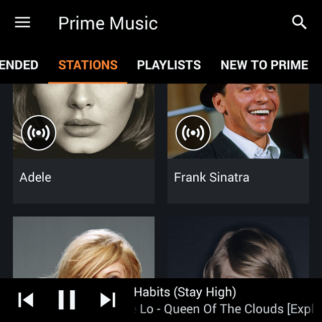 Amazon Prime Music on BB10 and I'm totally satisfied