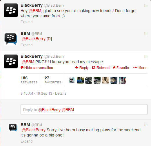 BlackBerry having a convo with BBM on Twitter lol-capture.png