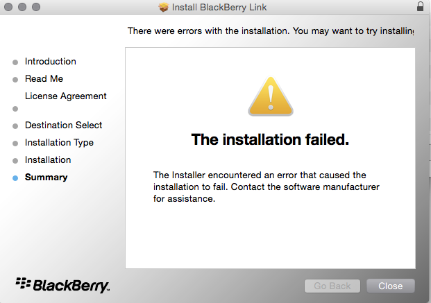 Cannot install Blackberry Link on Mac - BlackBerry Forums at