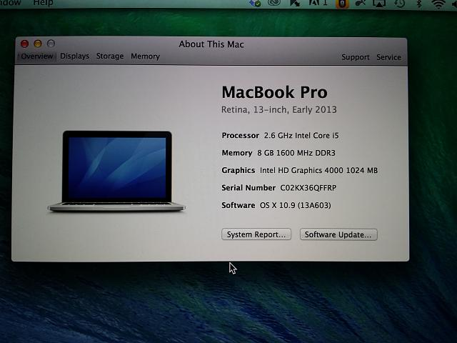 best service ff12a 58f65 WTS: Early 2013 13 Inch Apple MacBook Pro With Retina Display, SSD ...