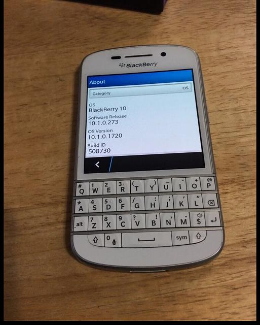 WTS: White Blackberry Q10 SQN100-3 - BlackBerry Forums at