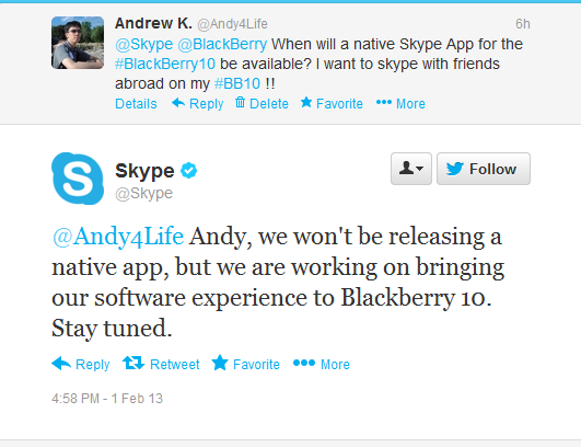 YES there will be Skype on blackberry 10 (coming soon)-skype.png