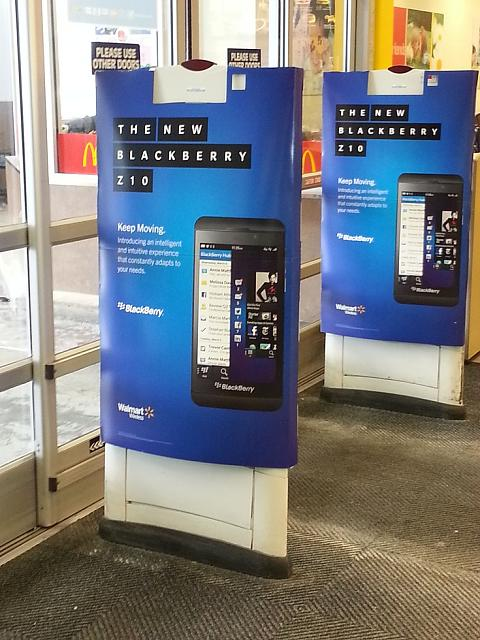 Walmart In Store Advertising Photos Blackberry Forums