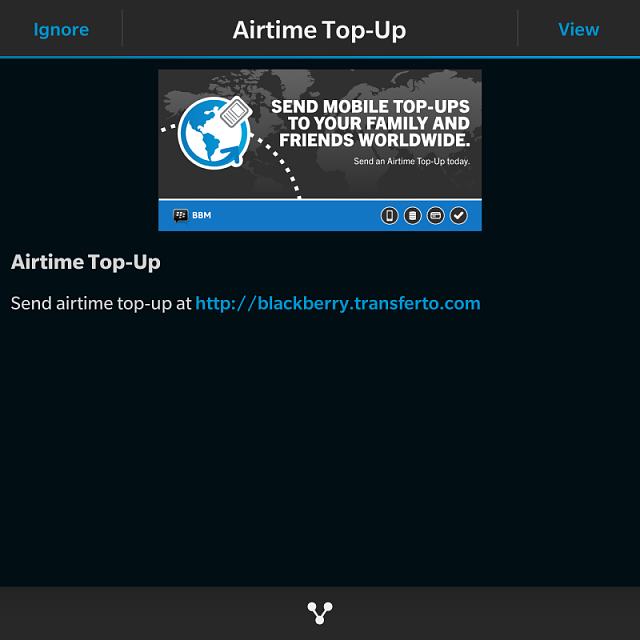 Anyone else get the BlackBerry Airtime Top-Up sponsored post on BBM?-img_20141105_100856.png