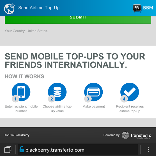 Anyone else get the BlackBerry Airtime Top-Up sponsored post on BBM?-img_20141105_100911.png