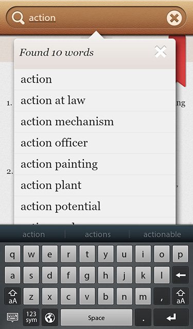 Dictionary+ : English Dictionary & Thesaurus for BlackBerry PlayBook-screenshot_pb-02.jpg