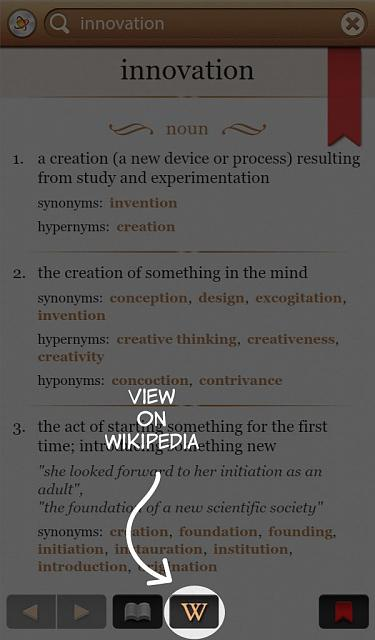 Dictionary+ : English Dictionary & Thesaurus for BlackBerry PlayBook-view_on_wikipedia.jpg