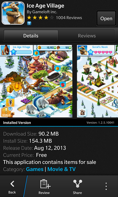 Ice Age Village upgrade available in BB world - BlackBerry