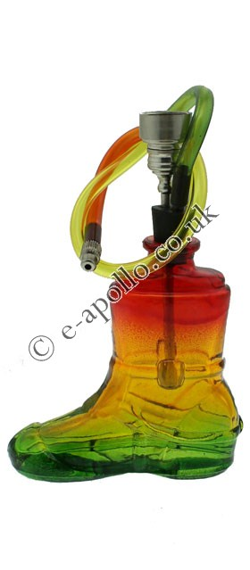 The CB 1M Challenge-boot-shaped-glass-pipe-13cm-rasta-pd.jpg