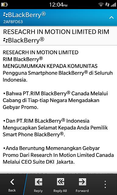 PIN message from Blackberry Indonesia, Think I JUST WON A CAR-img_00000748.jpg