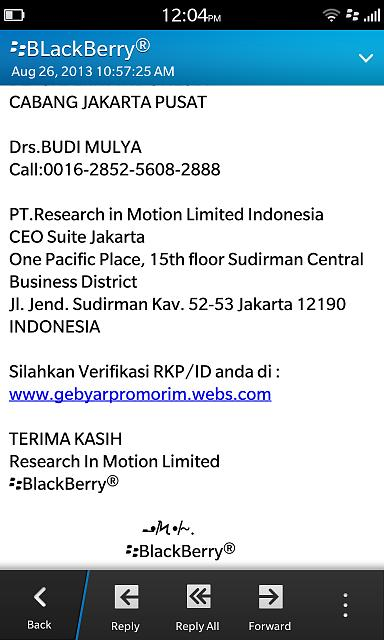 PIN message from Blackberry Indonesia, Think I JUST WON A CAR-img_00000749.jpg