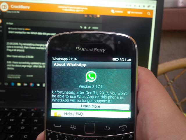 whatsapp blackberry bold 9700