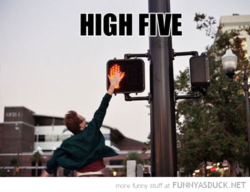The CB 1M Challenge-funny-high-five-walk-sign-man-pics.jpg