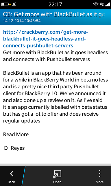 HOW TO: CB10 news alerts in Hub via BlackBullet-img_20141214_221742.png