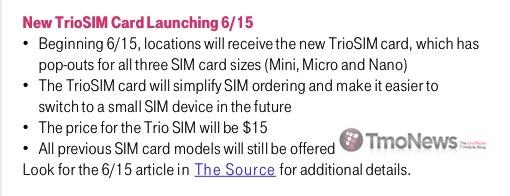 T-Mobile to sell TrioSIM (3-in-1 SIM card) starting Monday ...